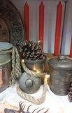 Set van 2 geverfde aardewerken potjes_3