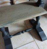 Oud tafeltje in Lino/Almost black met Cracquelure _3