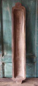 Tapas plank met oren, afgewerkt met patina en vernis