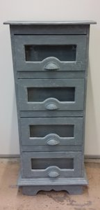 Grutterskastje met 4 lades in London Grey/ Vintage Grey