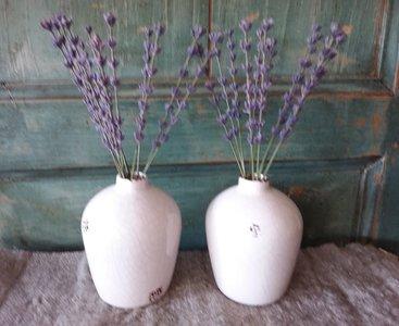 Cracquelé vaasjes met lavendel