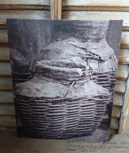 kalkverf op canvas 'vismand'